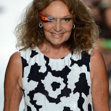 NEW YORK, NY - SEPTEMBER 09: Designer Diane Von Furstenberg walks the runway at the Diane Von Furstenberg Spring 2013 fashion show during Mercedes-Benz Fashion Week on September 9, 2012 in New York City. (Photo by Frazer Harrison/Getty Images for Mercedes-Benz)