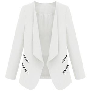 White Zipper Blazer