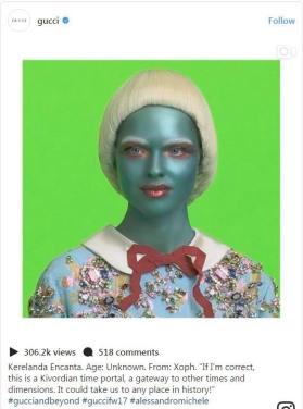 La presentación de la campaña en el Instagram de Gucci y sus personificaciones.